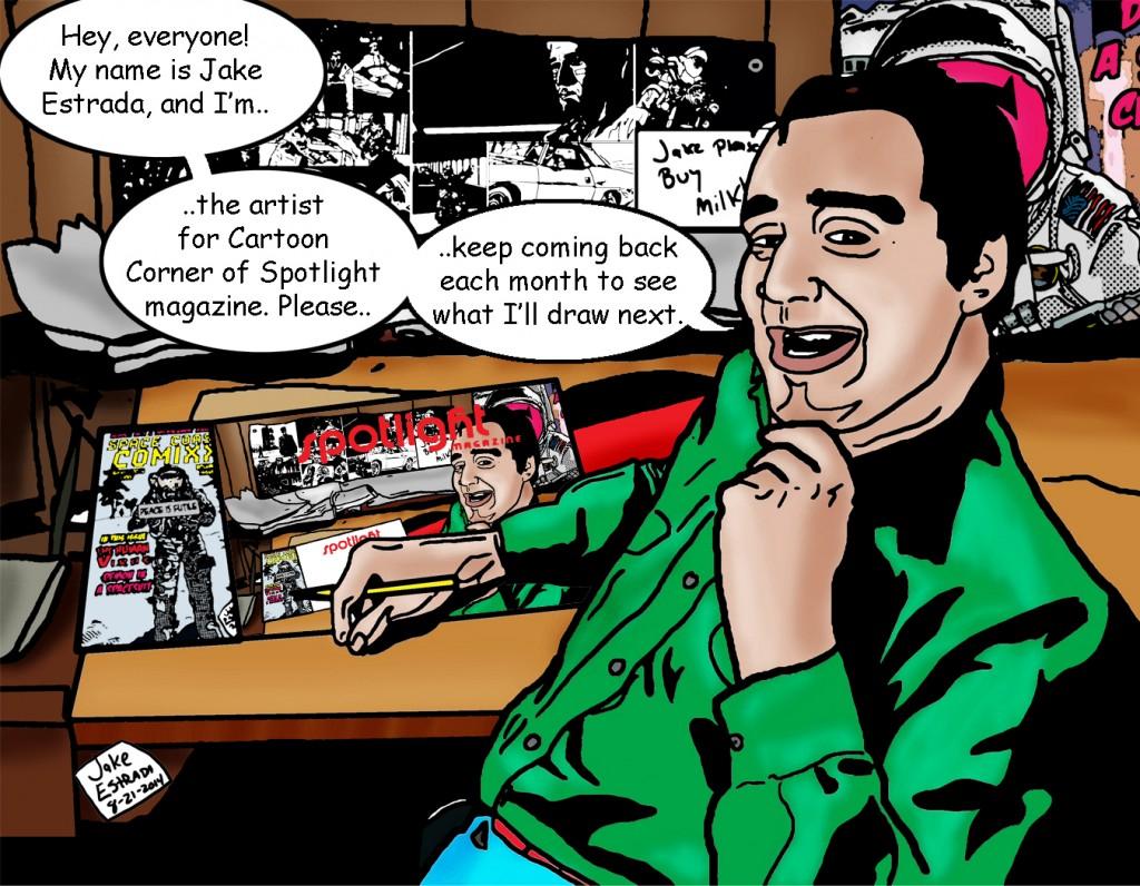 Cartoon Corner  by : Jake Estrada
